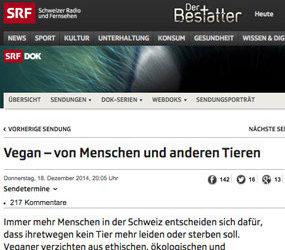 Die DOK-Sendung vom SRF1 im Schweizer TV vom Donnerstag, 18. Dezember 2014, (50 Min.)