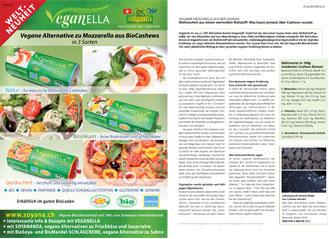Veganer Mozzarella aus BioCashews,  Magazin OLIV, Sept. 15